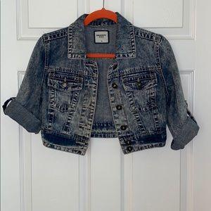 Denim Jacket-Distressed